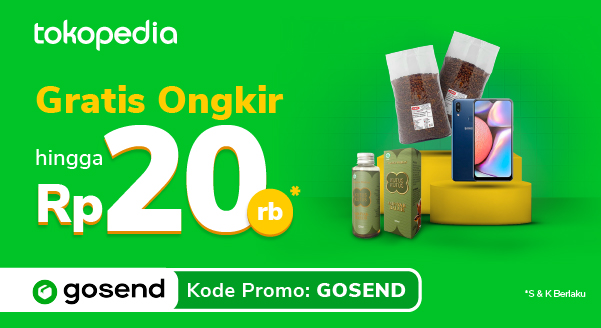 Belanja Kebutuhan dengan GoSend, Gratis Ongkir hingga 20rb!