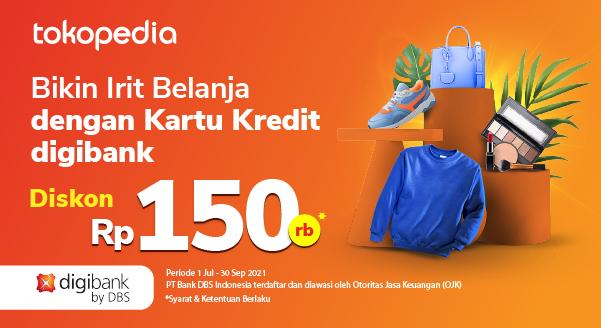 Promo Setiap Senin Kartu Kredit digibank Diskon 150rb di Tokopedia!