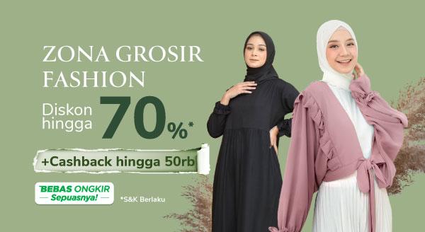 Borong Fashion Grosir, Bisa Lebih Hemat Hingga Rp 70rb!