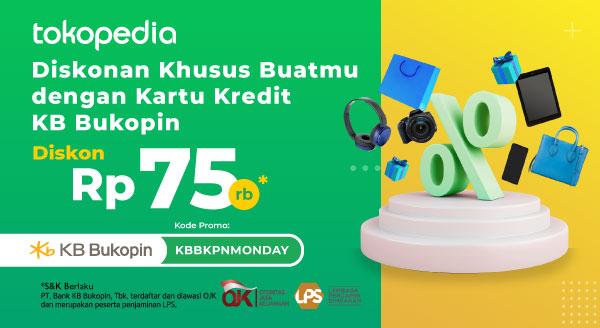 Promo KB Bukopin – Diskon Rp 75.000 Cuma Pakai Kartu Kredit KB Bukopin!