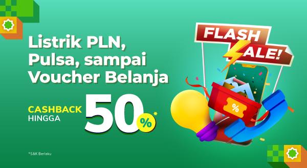 Flash Sale Pulsa s.d Listrik PLN⚡