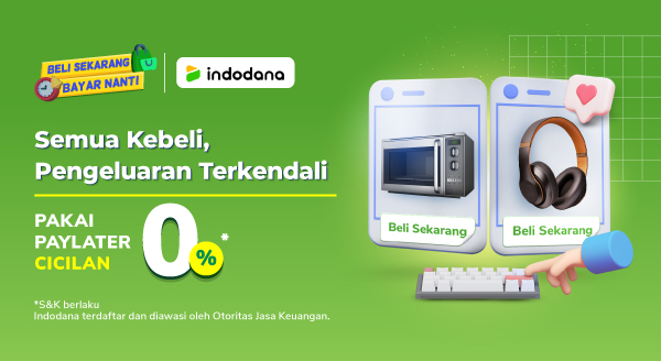 Promo Spesial Cicilan 0% Indodana di Tokopedia, Penuhi Semua Kebutuhanmu!