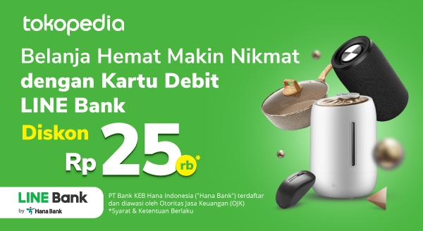 Belanja Setiap Hari Lebih Irit dengan Kartu Debit LINE Bank Disc 25ribu!