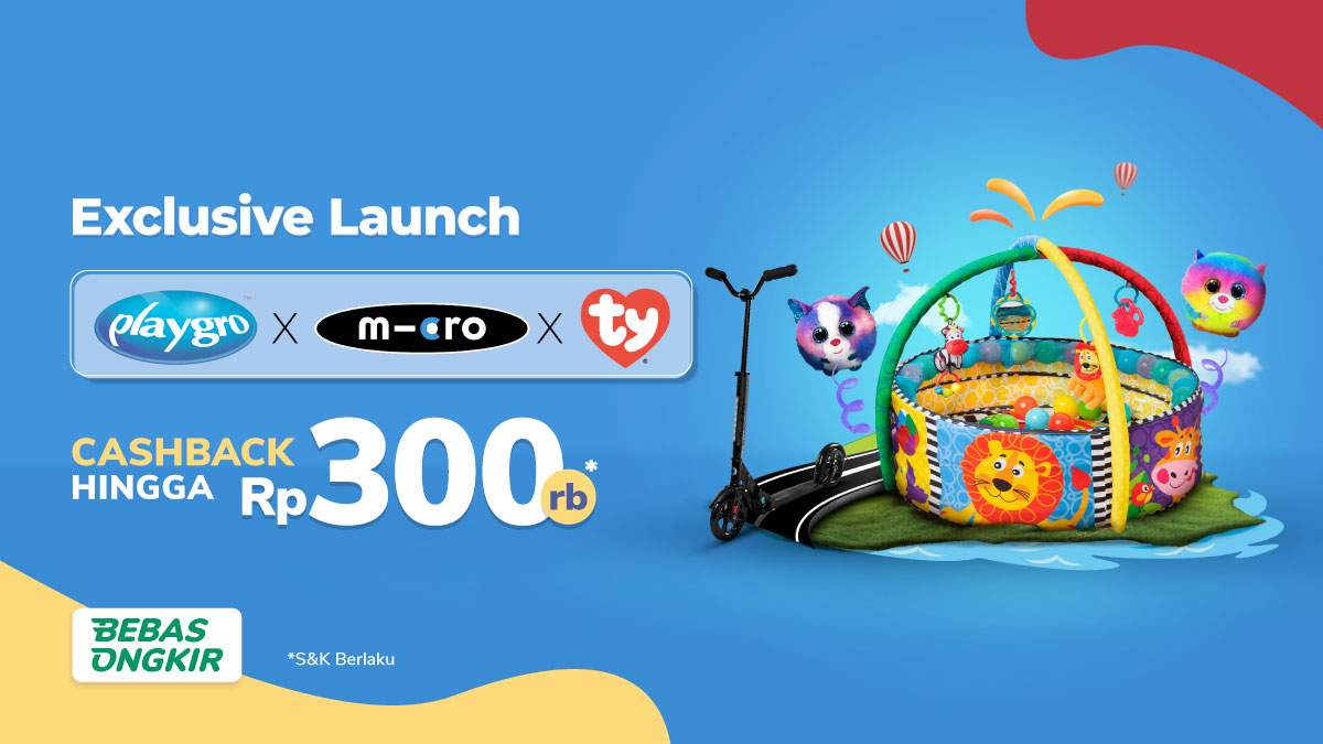 Beri Kejutan Buah Hati dengan Mainan Keren dari Playgro x Micro x TY
