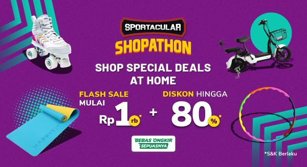 Beragam Produk Olahraga Sportacular Shopathon Diskon hingga 80% dan Flash Sale Mulai dari 1rb