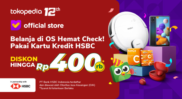 Belanja di Official Store Lebih Aman dan Hemat dengan Kartu Kredit HSBC!