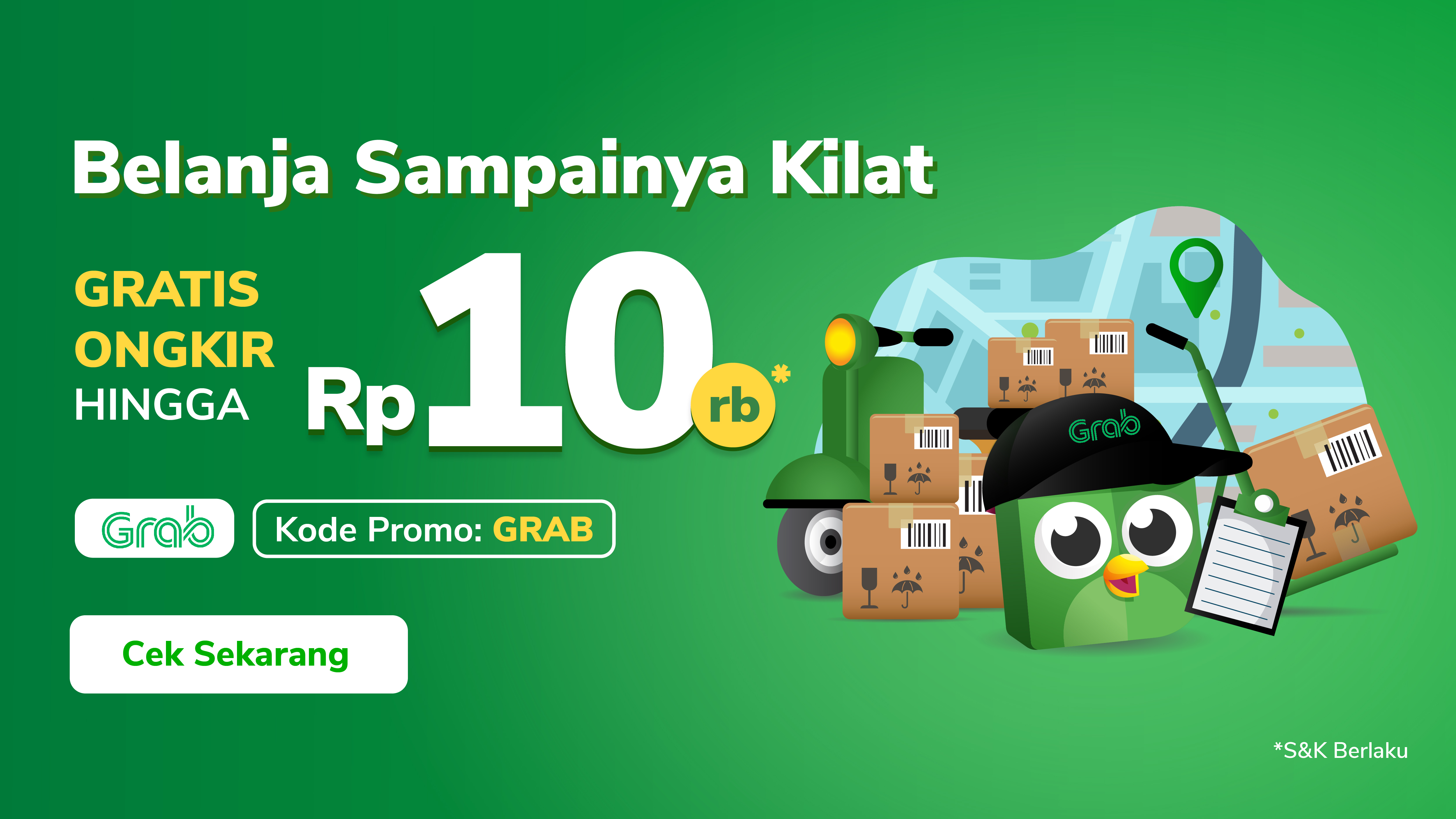 Belanja Kebutuhan dengan Grab, Gratis Ongkir hingga 10rb!
