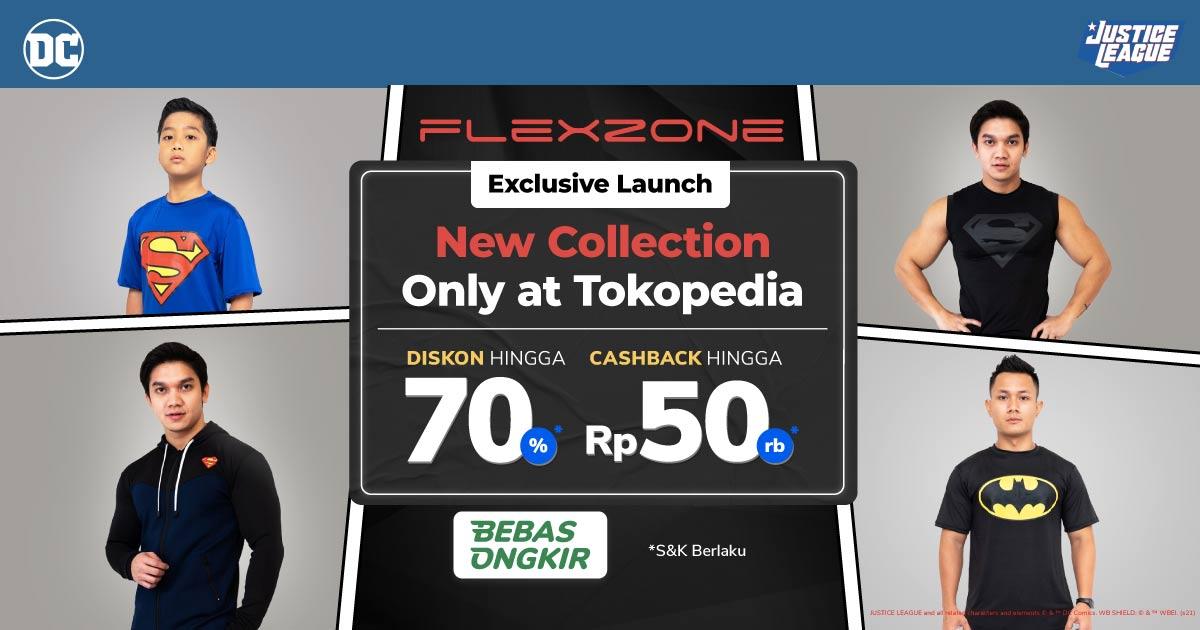 Nyaman Berolahraga Pakai Outfit Terbaru Flexzone, Diskon s.d 70%