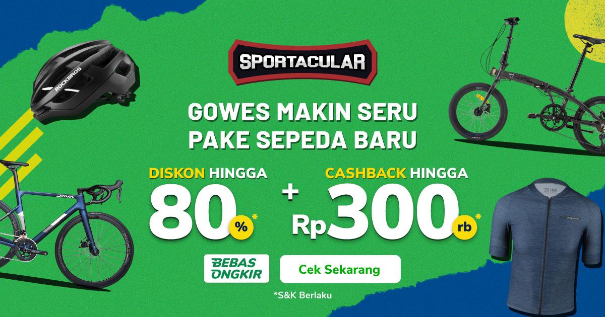 Sepeda Lipat, Sepeda Balap, Helm Sepeda & Jersey Sepeda di Sportacular Diskon hingga 80% dan Cashback hingga 300rb