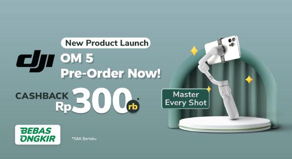 Terbaru! Stabilizer Kamera DJI OM 5 Cashback Rp300 Ribu