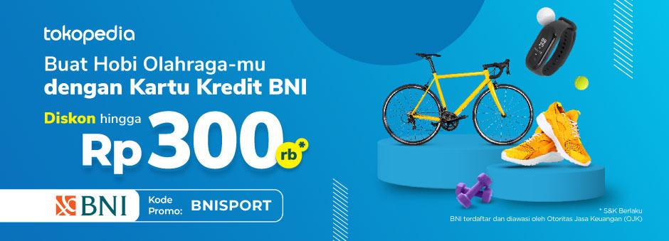 Olah Raga makin seru Diskon 10% Hingga Rp300rb dengan Kartu Kredit BNI!