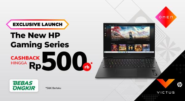 Laptop HP Gaming Terbaru, Victus & Omen Tersedia di Sini