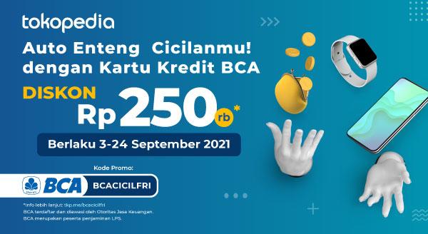 Pakai Cicilan Kartu Kredit BCA di Tokopedia Dapatkan Diskon 250rb!