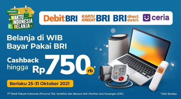Waktu Indonesia Belanja Oktober diskon s.d Rp 750rb dengan BRI!