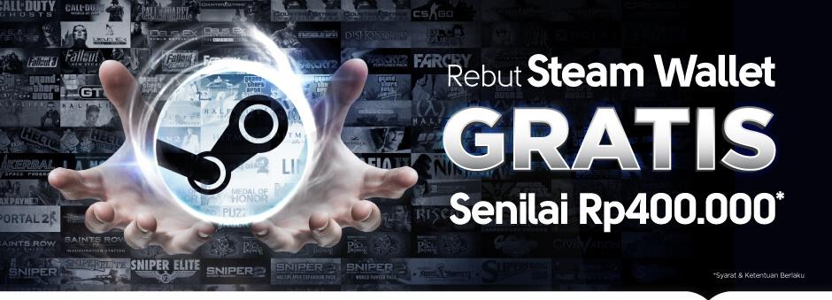 Promo Voucher Game – Steam Wallet GRATIS Senilai Rp400.000, Mau?