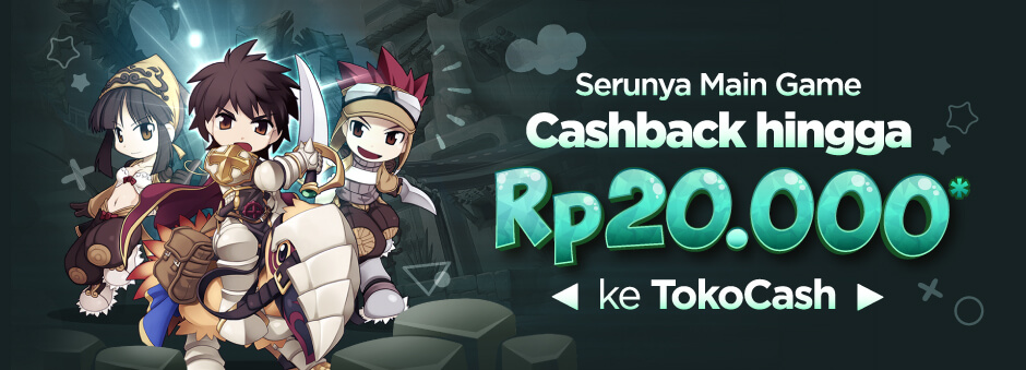 Promo Voucher Game – Cashback 10% hingga Rp20.000 ke TokoCash