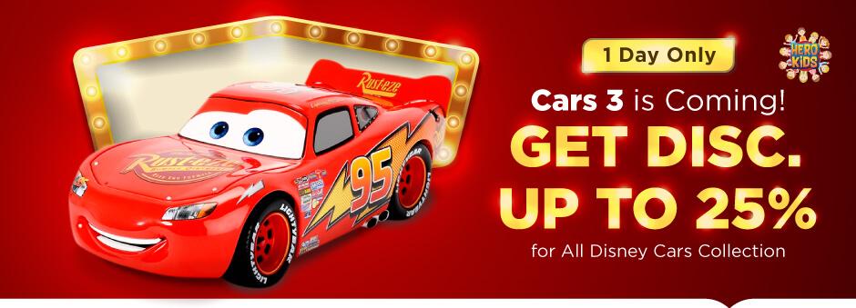 Semua Koleksi Disney Cars Diskon hingga 25%
