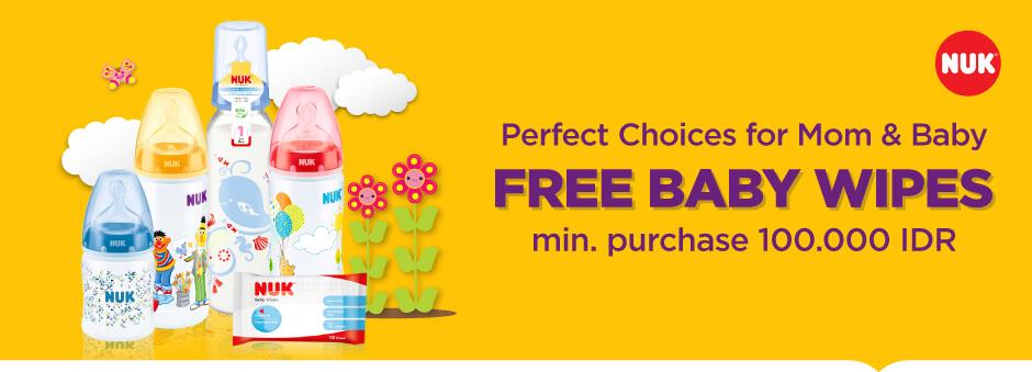Belanja Minimum Rp100.000 Dapat Baby Wipes Gratis