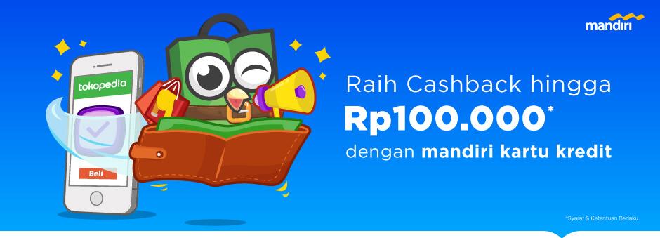 Promo Mandiri – Cashback hingga Rp100.000 dengan mandiri kartu kredit