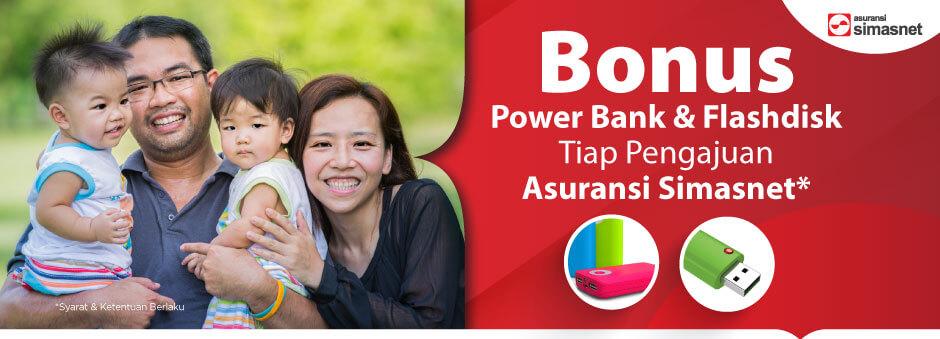 Miliki Asuransi Simasnet, Langsung Dapat Power Bank & Flashdisk