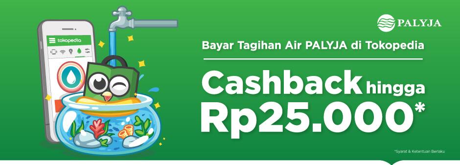 Cashback saat Bayar Tagihan Air PALYJA