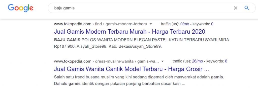 hasil pencarian seo