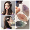 Ik89 Jepit Rambut Korea Daun Hair Clip - green thumbnail