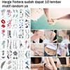 10 Lembar Tato Tulisan Sticker Tattoo Temporary Tato Temporer G thumbnail