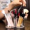 Marvilo Kotak Brush Akrilik Makeup Organizer 3 Sekat Bulat 2