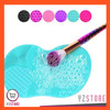 Pembersih Brush Make Up Silicone Pad High Quality YZ07 - Hijau Mint thumbnail