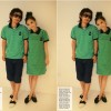 Printed Stripes Couple's POLO Suit Green