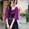 SALE! Purple Chiffon Blouse