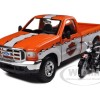 Ford F-350 Super Duty Pickup (1999) & 1936 El Knucklehead (Harley Motorcycles) (Maisto)