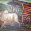 lukisan gerobak sapi
