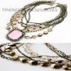 Elegant Baroque multi-layer chains necklace