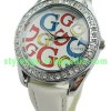 JAM TANGAN GUESS G COLORS LEATHER (WHITE)