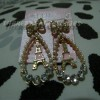 Candy Girl hollow gold plated tower pearl drop earrings