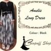 CODE : Amelie Long Dress Black