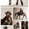 Hot Toys 1/6 3A Blind Cowboys and Ghost Horse Action Figures
