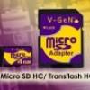 V-GEN Micro SD 8 GB -  Adapter