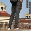celana skinny jeans warna dark grey merk peveje