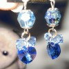 Anting - Body Heart Saphire