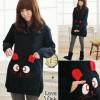 4065 - Sweater hoodie black rabbit