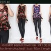 reversible peplum flower top