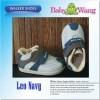 SEPATU BABY WANG - LEO NAVY