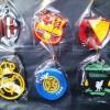 Souvenir gantungan kunci karet club bola