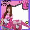 cardigan kitty polkadot pink