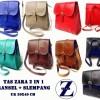 TAS RANSEL CROSS BODY SLEMPANG ZARA BAG 2 IN 1