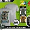 Kaos PIALA DUNIA Disain WORLD CUP - ARGENTINA 1
