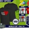 Kaos PIALA DUNIA Disain WORLD CUP - ITALY 10